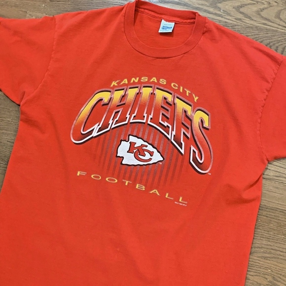 4ef8ffa1 VTG 90s Kansas City Chiefs T Shirt XL Salem Red